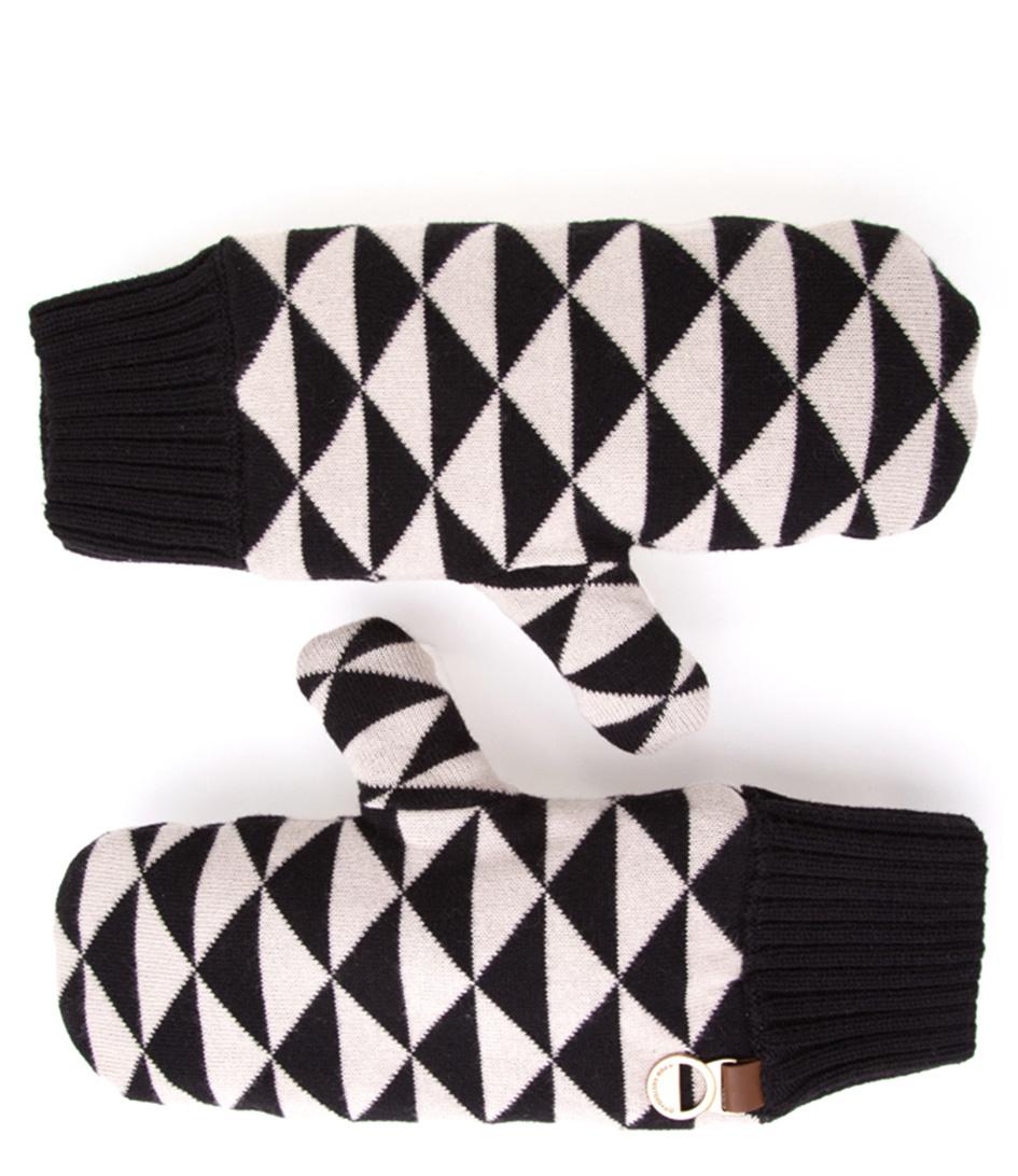 POM Amsterdam Handschoenen Mittens Dazzling Knit Wit