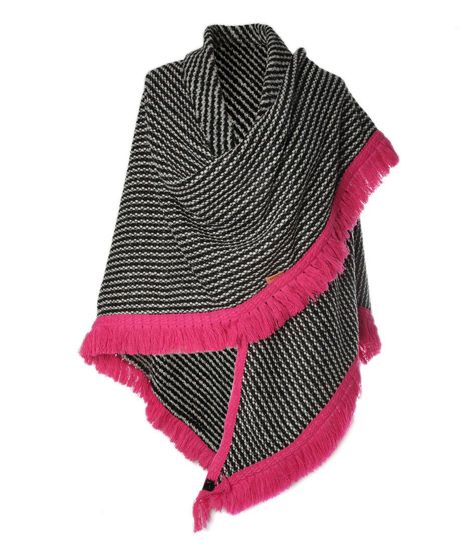 POM Amsterdam Sjaals Cape Embrace Zwart