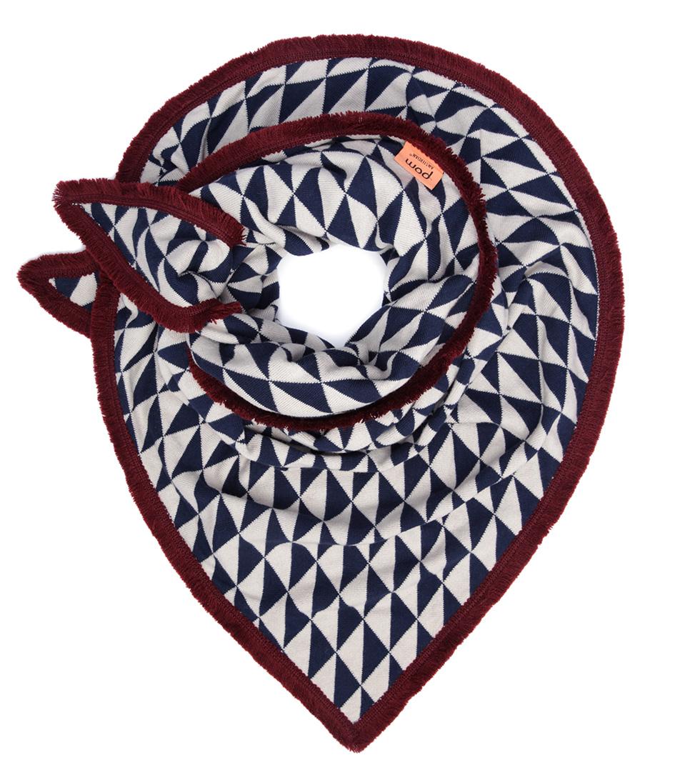 POM Amsterdam Sjaals Shawl Knitted Dazzling Blauw