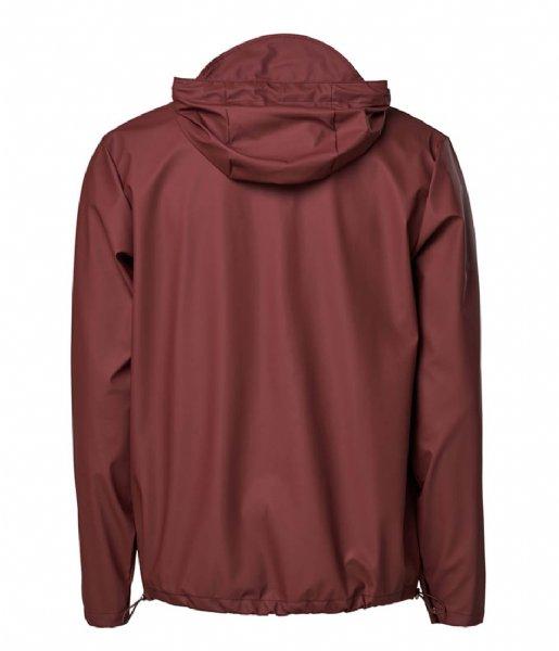 Rains Regenjas Short Hooded Coat Maroon (11)