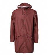 Rains Long Jacket Maroon (11)