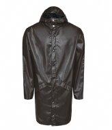 Rains Long Jacket Shiny Brown