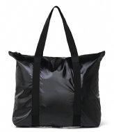 Rains Tote Bag Shiny Black (76)