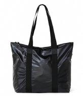 Rains Tote Bag Rush Shiny Black (76)