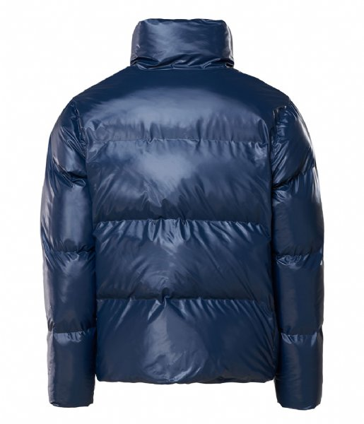 Rains Regenjas Boxy Puffer Jacket 07 Shiny Blue