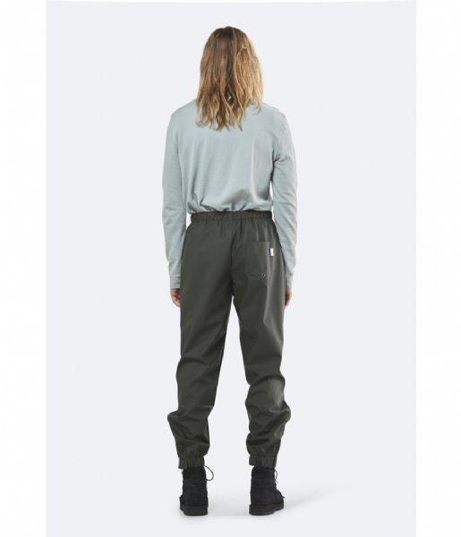 Rains Regenbroek Pants green (03)