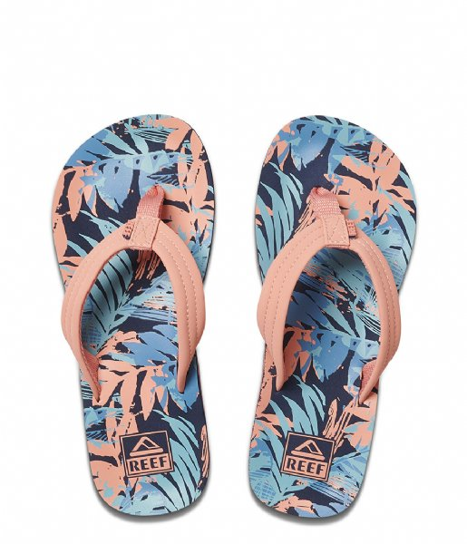 Reef Slippers Kids Ahi sunset palms
