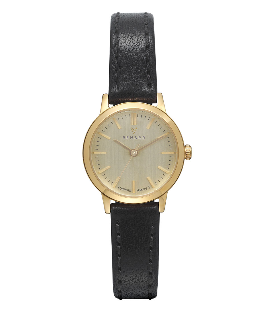 Renard Horloges Elite Champagne Gold 25.5 Zwart