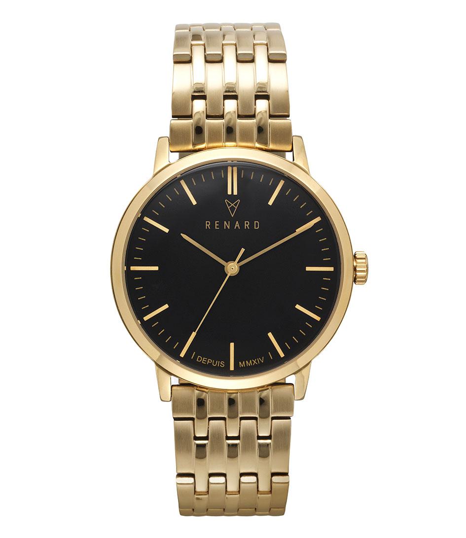 Renard Horloges Elite Black Gold 35.5 Goud