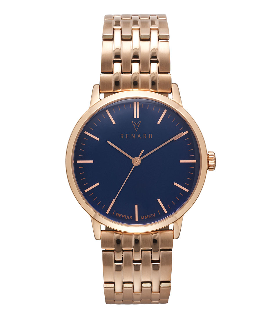 Renard Horloges Elite Ocean Blue Rose Gold 35.5