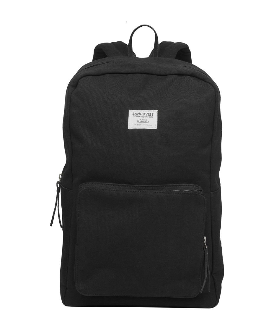 Sandqvist Tassen Amsterdam : Backpack kim black sandqvist the little green bag