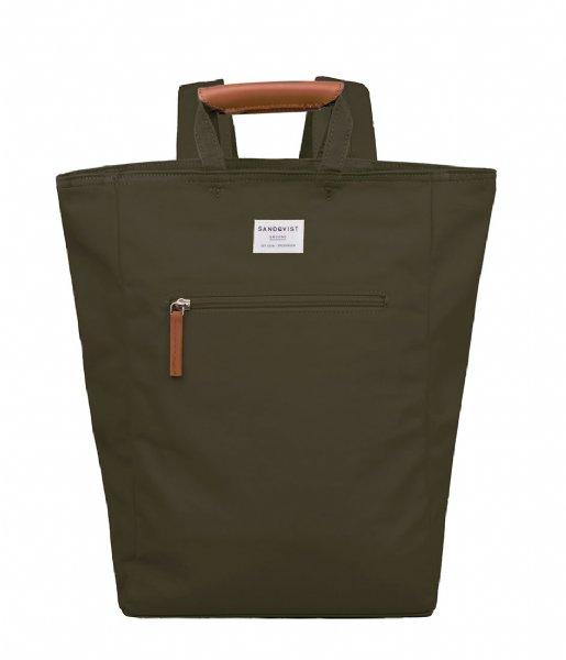 Sandqvist Laptop rugzak Backpack Tony 13 Inch olive (728)