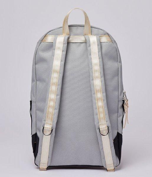 Sandqvist Laptop rugzak Glenn 13 Inch Multi Grey/Black with natural leather (SQA1565) Q3