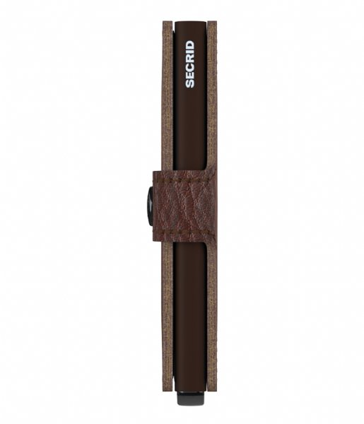 Secrid Pasjes portemonnee Miniwallet Stitch Linea espresso