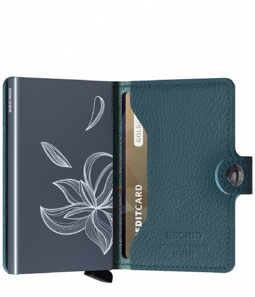 Secrid Pasjes portemonnee Miniwallet Stitch Magnolia petrolio