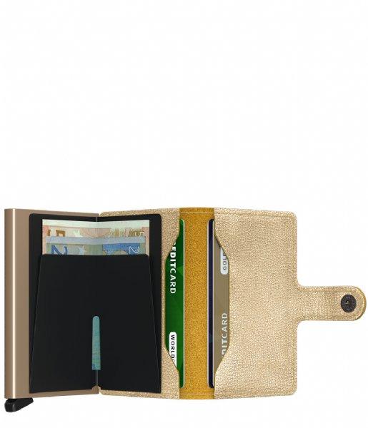 Secrid Pasjes portemonnee Miniwallet Antique Gold colored