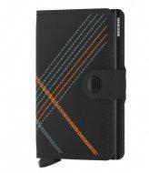 Secrid Miniwallet Stitch Linea Matt Base orange