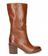 Shabbies Boot Shiny Grain Leather Cognac