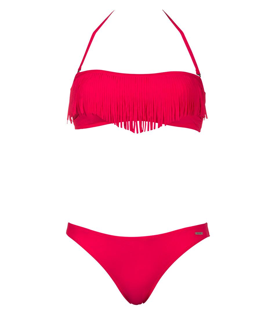 Shiwi Bikinis Bikini Bandeau Fringe Roze