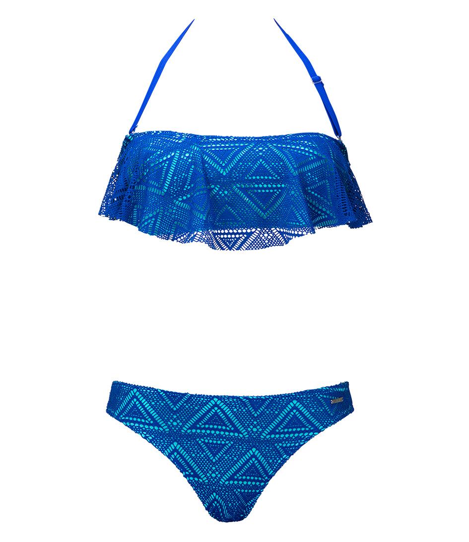 Shiwi Bikinis Bikini Bandeau Skirty Crochet Blauw