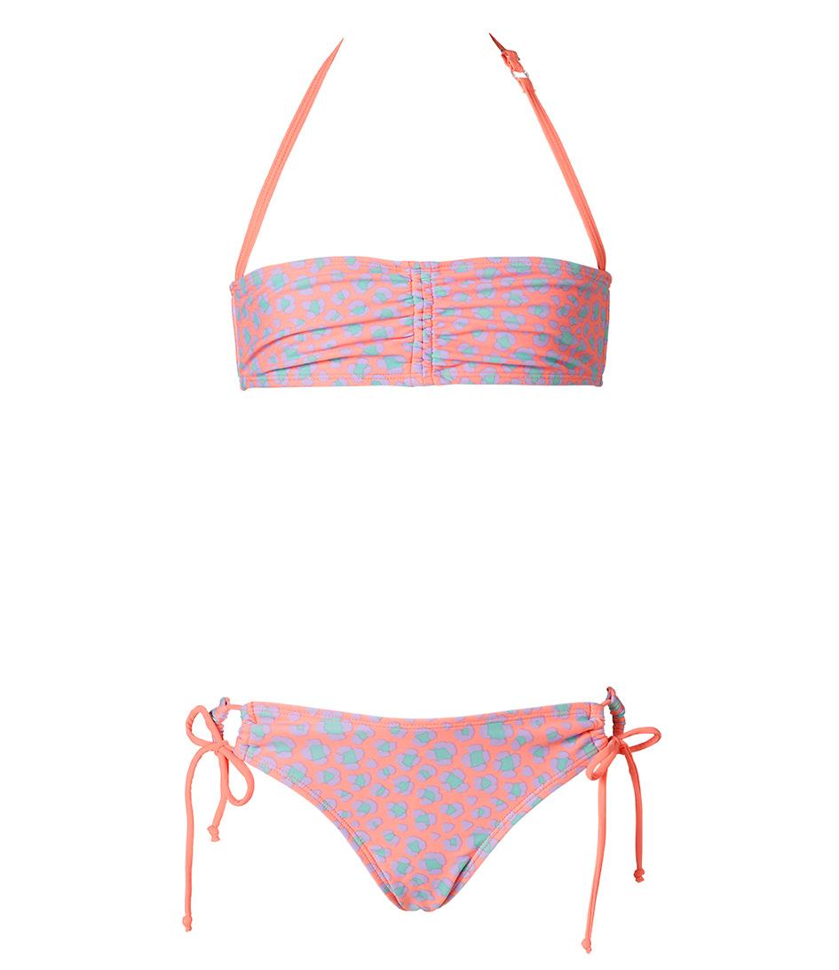 Shiwi Bikinis Kids Bikini Bandeau Leopard Oranje