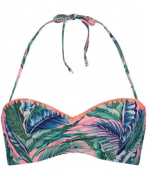 Shiwi Zwemkleding Bandeau Wire Top Bright Jungle D-E multi colour