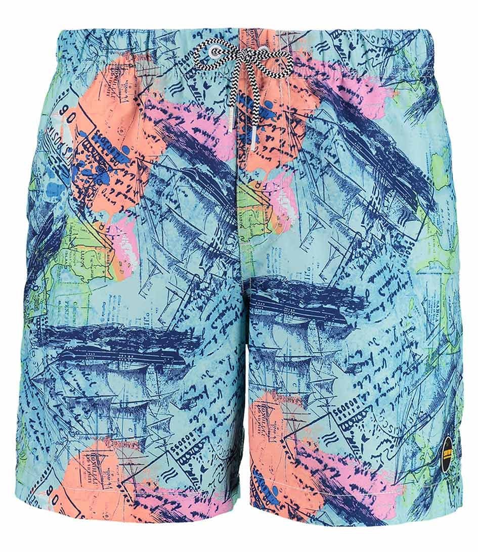 Shiwi Zwembroeken Kids Swim Shorts Sailing Map Blauw