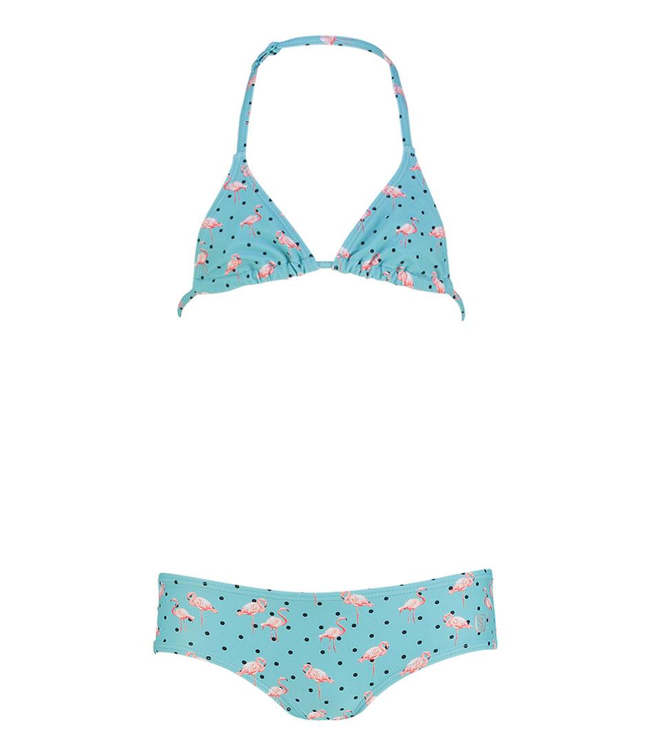 Shiwi Bikinis Kids Bikini Triangle Flamingo Dots Groen