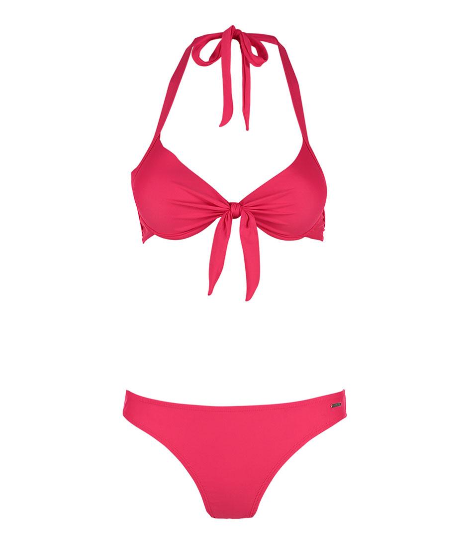 Shiwi Bikinis Bikini Push Up Solid Rood