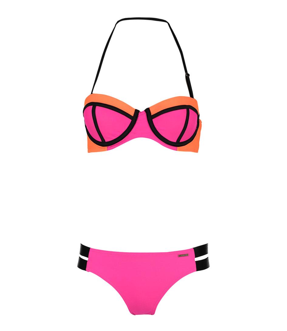 Shiwi Bikinis Bikini Padded Contrast Roze