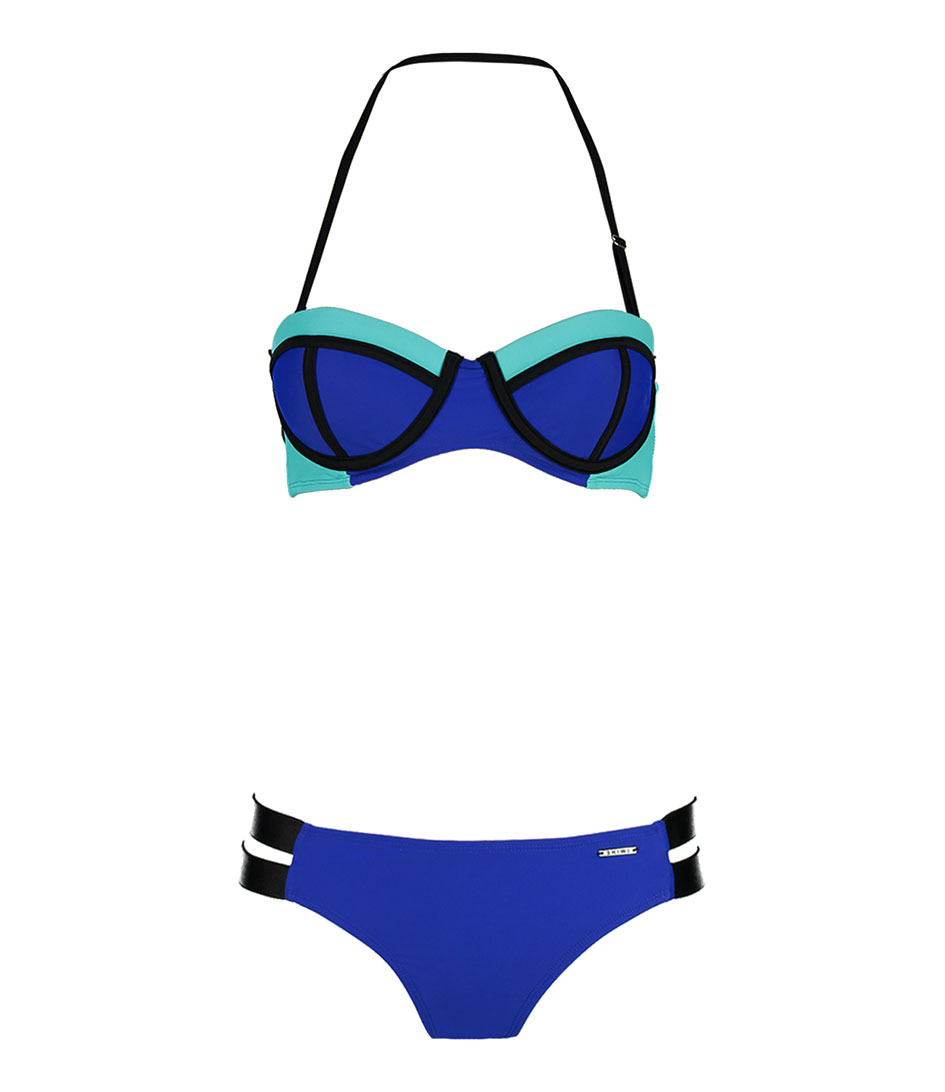 Shiwi Bikinis Bikini Padded Contrast Blauw