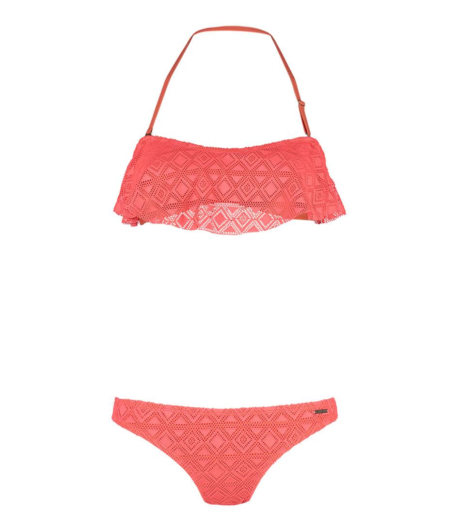 Shiwi Bikinis Bikini Bandeau Skirty Crochet Rood