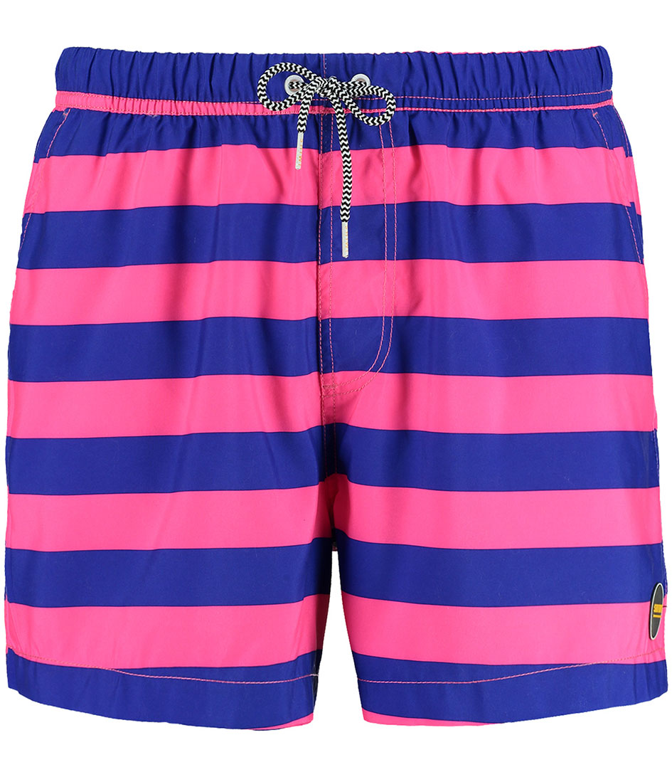 Shiwi Zwembroeken Swim Shorts Big Stripes Blauw