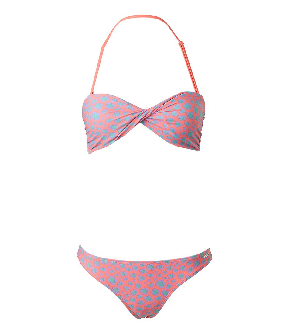 Shiwi Bikinis Bikini Bandeau Leopard Rood