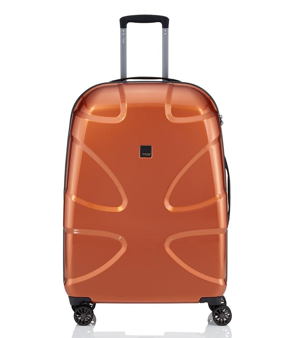 x2 flash large trolley 4 wheels copper 66 titan the little green bag. Black Bedroom Furniture Sets. Home Design Ideas
