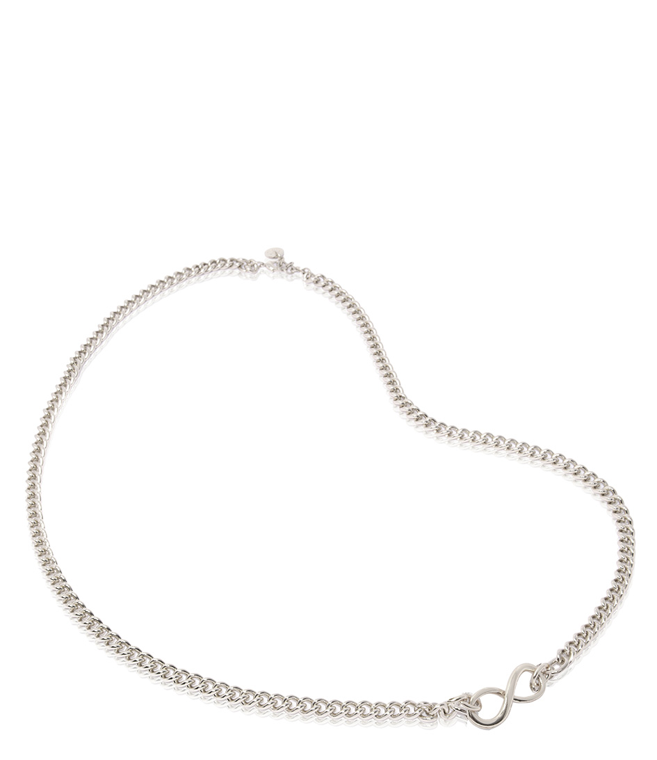 TOV Essentials Kettingen Infinity Gourmet Short Collier Zilver