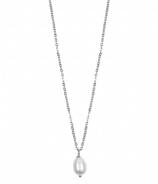 The Little Green Bag Ketting Freshwater Pearl Necklace X My Jewellery silver colored