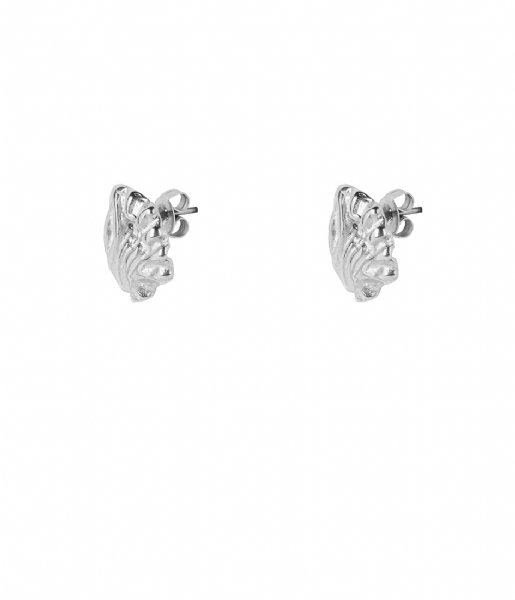The Little Green Bag Oorbellen Leaf Studs X My Jewellery silver colored