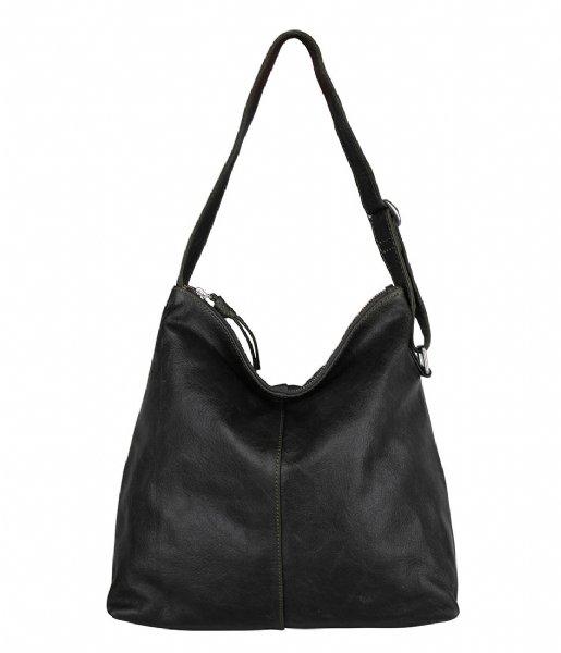 The Little Green Bag Handtas Fennel Hobo Dark Green (945)