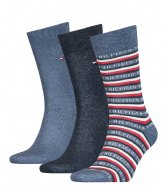 Tommy Hilfiger Men Sock 3P Logo Giftbox Jeans (001)