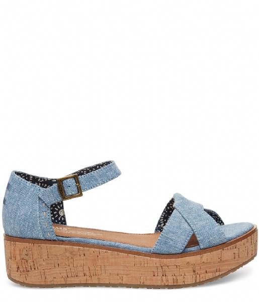 7b3295c35d1 Sandals Harper Chambray blue slub (10010004) TOMS