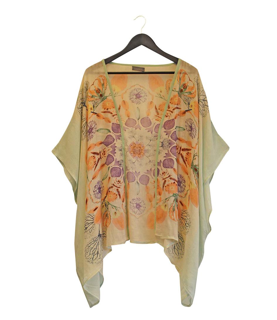 Unmade Copenhagen Sjaals Mandala Floral Kimono Groen