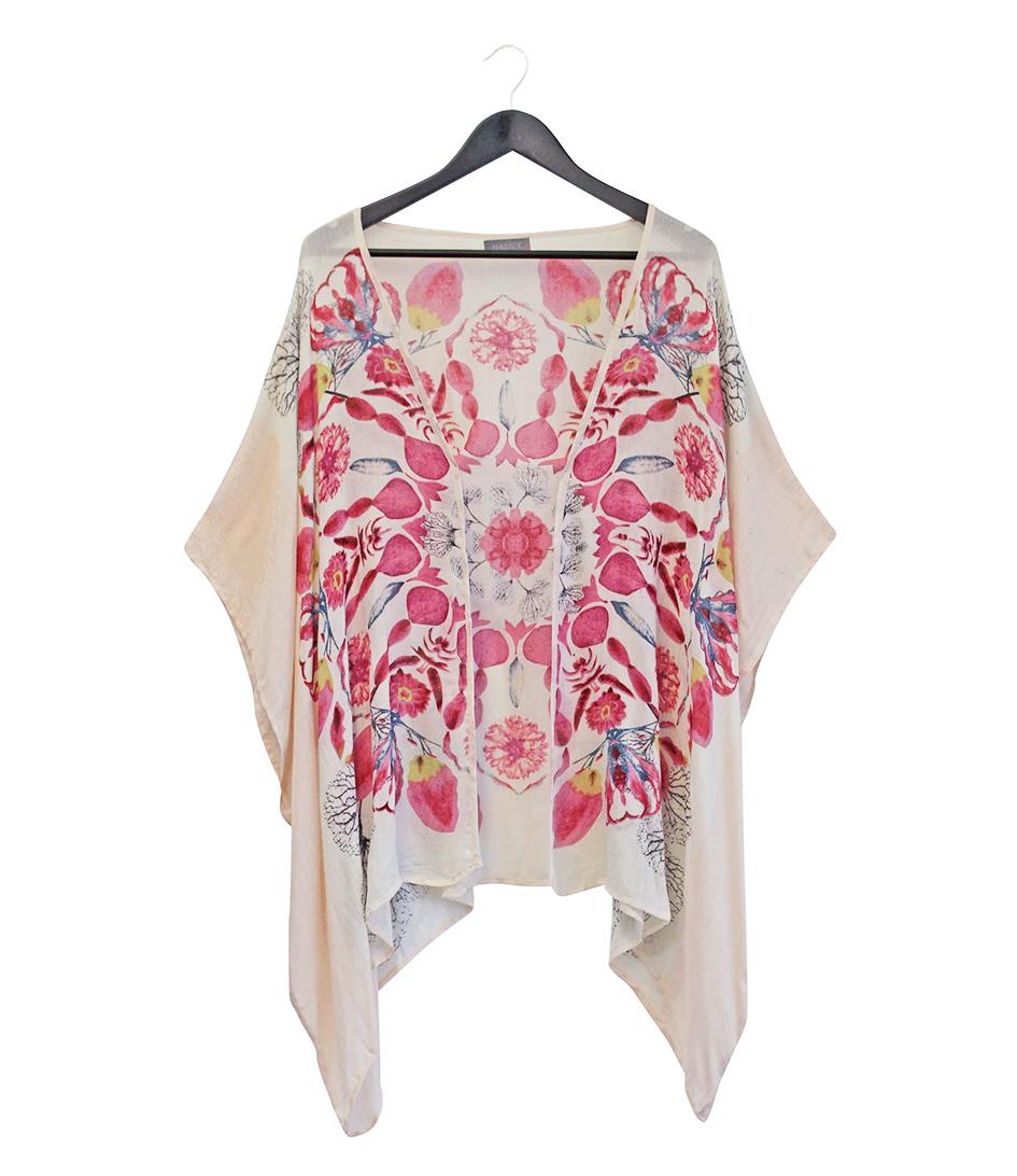 Unmade Copenhagen Sjaals Mandala Floral Kimono Roze