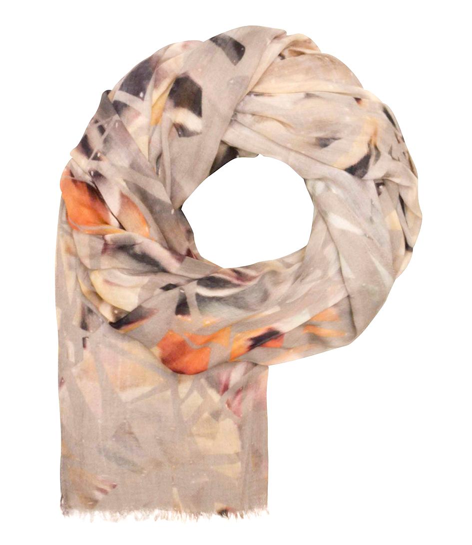 Unmade Copenhagen Sjaals Shattered Print Scarf Taupe