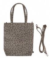 Zusss Basic Shopper leopard zand