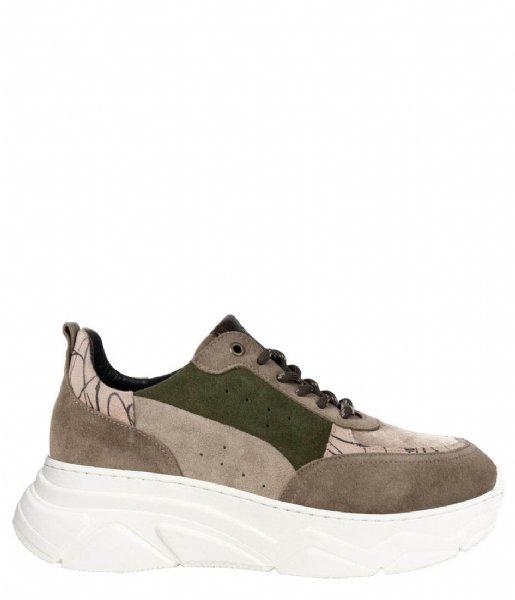 Zusss Sneakers Gave sneakers zand groen