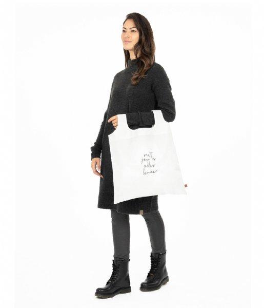 Zusss Shopper Opvouwbaar Tasje Met Jou Is Alles Leuker wit
