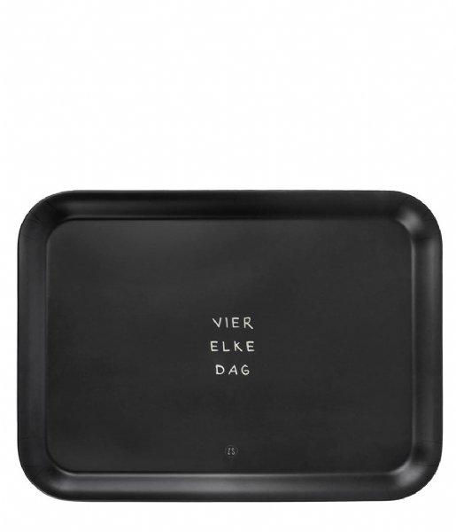 Zusss Decoratief object Melamine Dienblad Vier Elke Dag 43X32cm Brons
