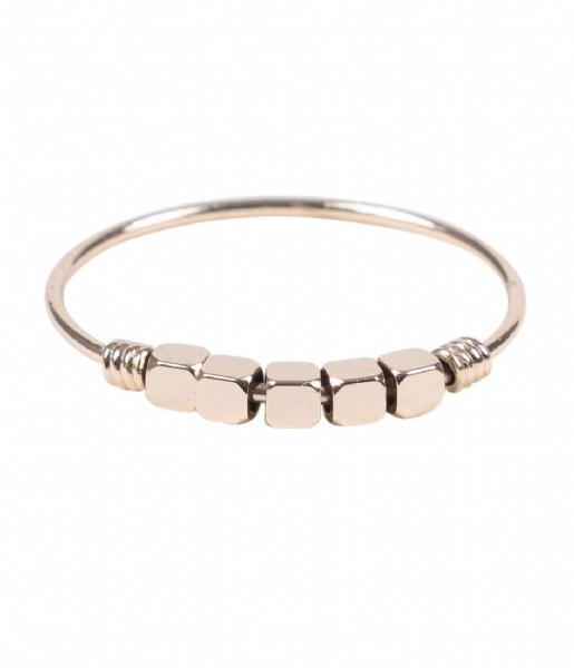 Zusss Ring Ring Metalen Kraaltjes goud