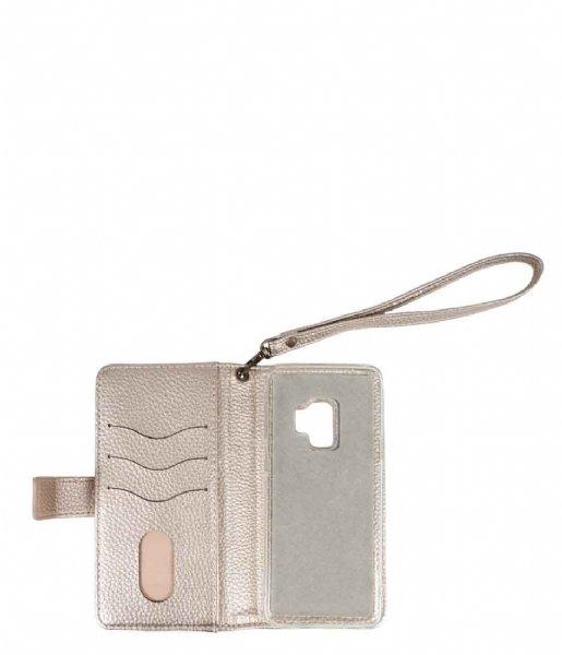 Zusss Smartphone cover Leuke Portemonee Telefoonhoes Iphone X goud metallic